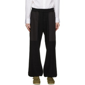 House of the Very Islands Black Paneled Limiting Factor Lounge Pants