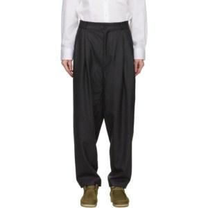 House of the Very Islands Grey Merino Wool Entrepreneur Trousers