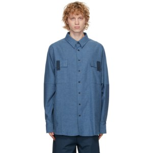 House of the Very Islands Blue Flannel Big Shirt