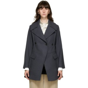 Namacheko Grey Wool Pea Coat
