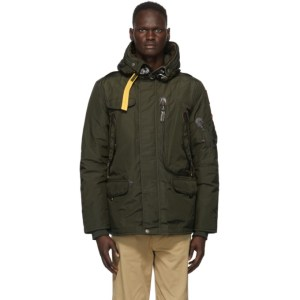 Parajumpers Green Down Right Hand Base Parka