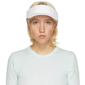 rag and bone White Nylon Visor Cap