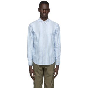 rag and bone Blue Stripe Fit 2 Tomlin Shirt