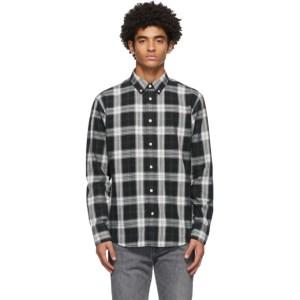 rag and bone Black and White Fit 2 Tomlin Shirt