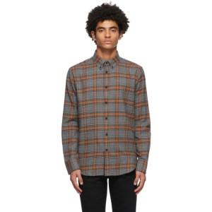 rag and bone Grey and Orange Fit 2 Tomlin Shirt