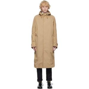 Comme des Garcons Homme Beige Cotton Twill Coat