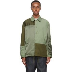 Comme des Garcons Homme Green Panelled Jacket