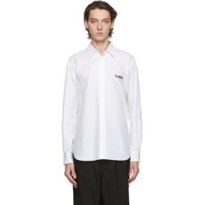 Comme des Garcons Homme White Cotton Broadcloth Shirt