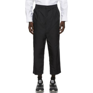 Comme des Garcons Homme Black Oxford Wide-Leg Trousers