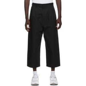 Comme des Garcons Homme Black Cotton Trousers