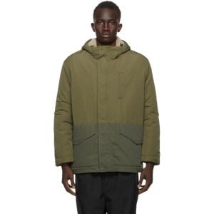 Comme des Garcons Homme Khaki Cotton and Nylon Jacket