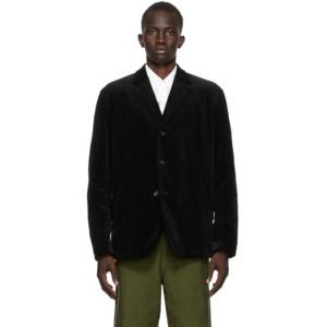 Comme des Garcons Homme Black Corduroy Jacket