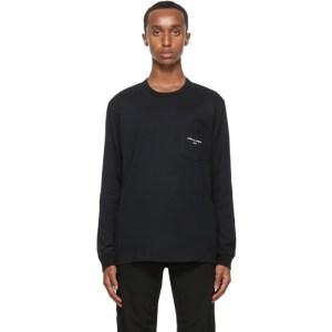 Comme des Garcons Homme Black Logo Long Sleeve T-Shirt