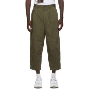Comme des Garcons Homme Khaki Canvas Wide-Leg Trousers