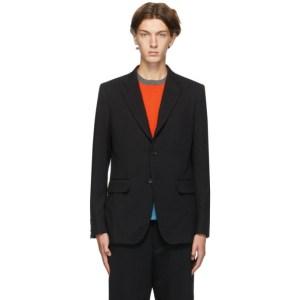 Comme des Garcons Homme Deux Black Wool Twill Blazer