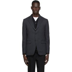 Comme des Garcons Homme Deux Grey Wool Twill Blazer