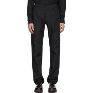 Comme des Garcons Homme Deux Black Gabardine Trousers