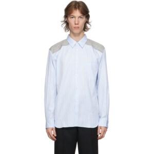 Comme des Garcons Homme Deux Blue Stripe Dobby Shirt