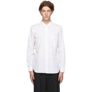 Comme des Garcons Homme Deux White Cotton Broad Stripe Shirt