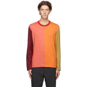 Comme des Garcons Homme Deux Multicolor Colorblocked Long Sleeve T-Shirt