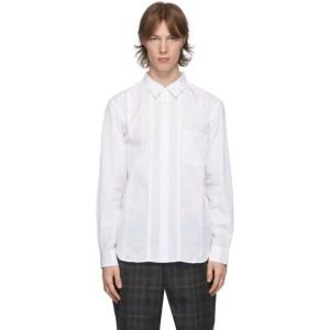 Comme des Garcons Homme Deux White Cotton Broadcloth Shirt
