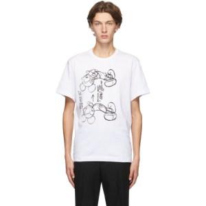 Comme des Garcons Homme Deux White Mickey Mouse T-Shirt