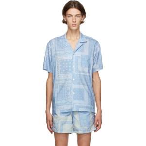 Bather Blue Bandana Camp Shirt