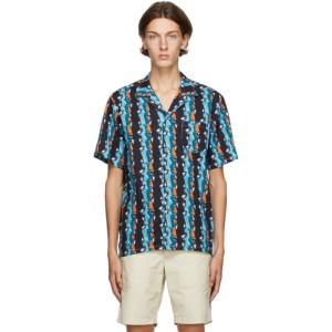 Bather Blue Bizzaro Stripe Camp Shirt