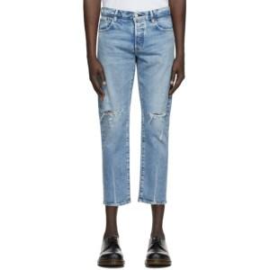 Moussy Vintage Blue Denim MVM Lucile Tapered Jeans
