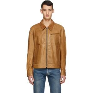 Schott Brown Leather Unlined Jacket