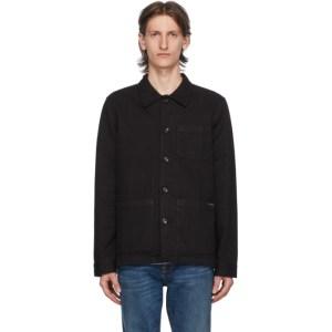 Nudie Jeans Black Barney Jacket