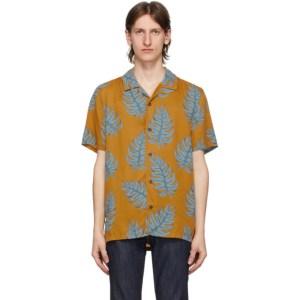 Nudie Jeans Orange Leaf Print Arvid Shirt