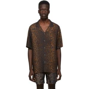 Ksubi Brown and Black Prowler Shirt