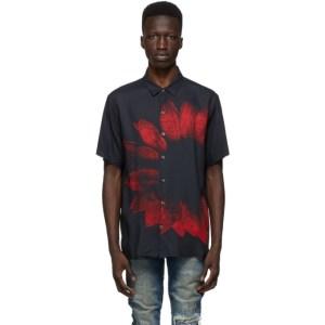 Ksubi Black and Red Dazed Short Sleeve Shirt
