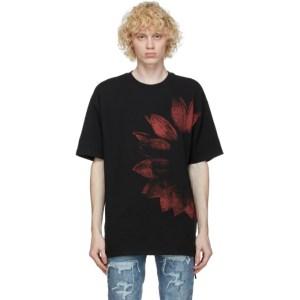Ksubi SSENSE Exclusive Black and Red Dazed T-Shirt