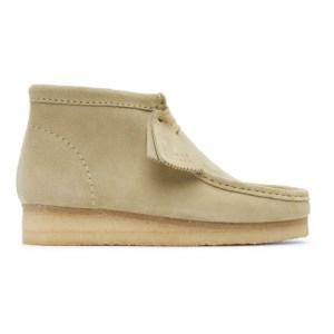 Clarks Originals Beige Suede Wallabee Desert Boots