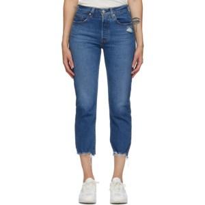 Levis Indigo 501 Original Cropped Jeans