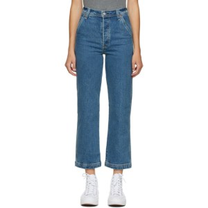 Levis Blue Ribcage Straight Ankle Jeans