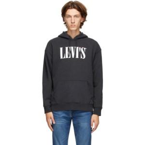 Levis Black Logo Hoodie