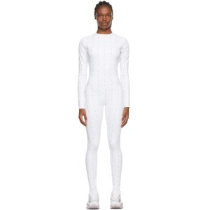 Reebok by Pyer Moss White Allover Logo Jumpsuit