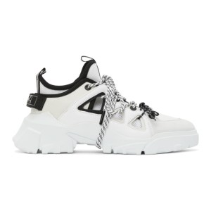 McQ Alexander McQueen White McQ Swallow Orbyt Mid Sneakers