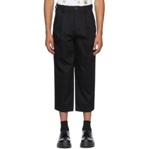 Goodfight SSENSE Exclusive Black Pinstripe Daily Drive Trousers