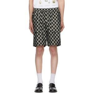 Goodfight Green Check Illusion Shorts