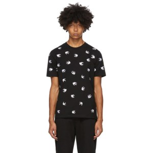 McQ Alexander McQueen Black McQ Swallow Allover T-Shirt