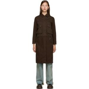 Reese Cooper SSENSE Exclusive Brown Canvas Coat