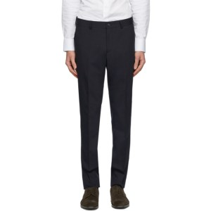 Tiger of Sweden Navy Wool Herris Trousers
