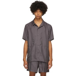 Tiger of Sweden SSENSE Exclusive Navy Riccerde Short Sleeve Shirt