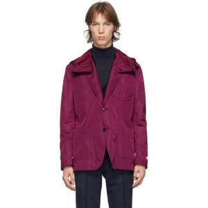 Tiger of Sweden SSENSE Exclusive Purple Veltlin 2.0 Hooded Blazer