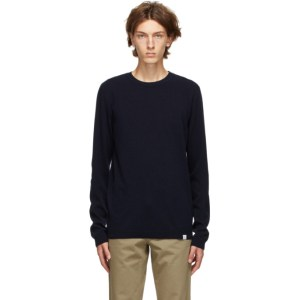 Norse Projects Navy Light Wool Sigfred Sweater