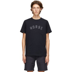 Norse Projects Navy Niels Ivy Logo T-Shirt